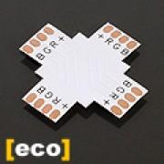 Led szalag PCB elosztó elem, X irányú, 5050 RGB szalagokhoz,