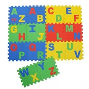 "NHR Play Puzzle style mat with English Alphabets set of 14 Pcs 12"" X 12"""