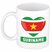 Shoppartners I love Suriname mok / beker 300 ml Multi