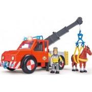 Masina de pompieri Simba Fireman Sam Phoenix cu figurina cal si accesorii