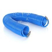 Furtun pneumatic spiralat pentru compresor de aer, 8 bar, 8x12mm, 20m