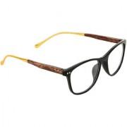 Zyaden Black Rectangle Eyewear frame 354