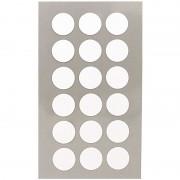 Merkloos 144x Witte ronde sticker etiketten 15 mm