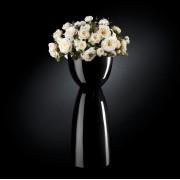 Aranjament floral VIENNA IN SHINY VASE, negru