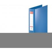 Caiet mecanic, A4, 4 inele tip D, inel 40 mm, 5.8cm, albastru, ESSELTE Jumbo
