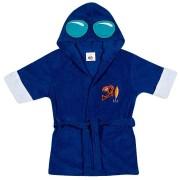 Roupao Infantil Tip Top com Capuz Azul Royal Atoalhado Personagem Mergulhador