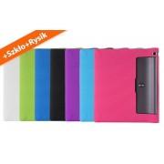 Etui silikonowe Lenovo Yoga 3 10.1 x50 L/F Fioletowy + rysik + szkło