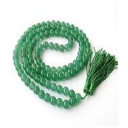 Natural Green Sulemani Hakik Mala 100% Original Unheated & Untreated Agate Mala Jaipur Gemstone