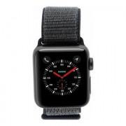 Apple Watch Series 3 Aluminiumgehäuse spacegrey 38mm mit Nike+ Sport Loop grau/blau (GPS + Cellular) aluminium spacegrau