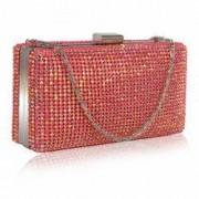 Clutch de ocazie roz acrilic Leesun de dama LSE00190