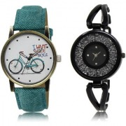 The Shopoholic White Black Combo New Stylist Latest White And Black Dial Analog Watch For Girls Women Stylish Watches