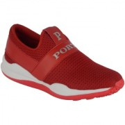 Port Men's Red Mesh Sports Shoes