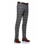 Pantaloni Barbati Antonio Gatti Gri In Carouri Slim CTP002 100 52