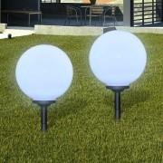 vidaXL Соларни LED лампи с клин - сфери за градината, 30 см. – 2 бр.