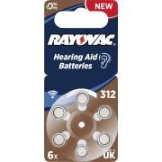 Baterii proteze auditive Rayovac Acoustic HA312, 6 buc.