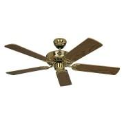 Casafan Ceiling Fan, Royal Mp, Classic 103 Cm, Polished Brass, Oak Blades, Casafan