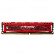 Memória RAM Crucial Ballistix Sport LT Red 8GB (1x8GB) DDR4-3000MHz CL15 Vermelha