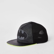 River Island Mens Boys Grey Batman neon cap (h 9-12Yrs)