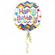 Balon folie 45 cm Happy Birthday Stelute