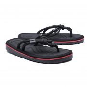 Sandalias De Hombre Flip-flops Zapatos De Playa Chancletas Zapatillas - Negro