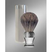 eShave Travel Shaving Brush Clear 780018