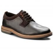 Обувки CLARKS - Pitney Walk 261205737 Dark Brown Leather