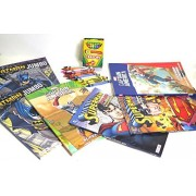 Captain america, Batman, superman, jumbo Coloring and activity books 96 page, 6 different book, Also includes...