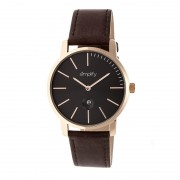 Simplify The 4700 Leather-Band Watch w/Date - Rose Gold/Black/Dark Brown SIM4705