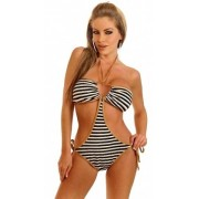 Costum de baie intreg model zebra