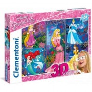 Puzzle 3D Clementoni Printesele Disney, 104 piese