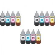 REFILL INK FOR HP 2135 Printer HP 3635 Printer HP 3636 Printer HO 3835 Printer HP 4535 Printer HP 4675 Printer Hp 3775 Printer HP 3776 Printer HP 3777 Printers Multi Color Ink Cartridge(Black Magenta Cyan Yellow) 3 sets