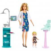Barbie Quiero Ser Dentista Muñeca Con Muñeca Bebé Y Accesorios Mattel Pelo Rubio