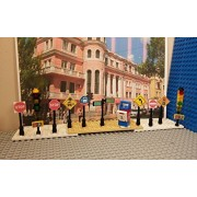 LEGO City Street Signs. Traffic Lights. Post box. SET OF 11. CUSTOM PRINTED