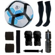 Combo of Laliga Blue/White/Black Football (Size-5) & Kit of 5 Other items