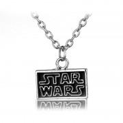 Lantisor Cu Pandantiv Star Wars Logo Negru