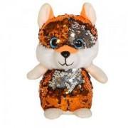 Детска плюшена играчка - Лисица с пайети, 14см., 391098