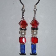 Christmas Nutcracker Earrings Swarovski Crystal Sterling Sparkly