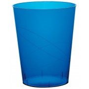 Vaso de Plastico Moon Azul Transp. PS 350ml (400 Uds)