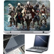 Finearts Laptop Skin 15.6 Inch With Key Guard & Screen Protector - Assassin Team