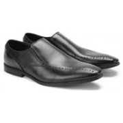 Clarks BAMPTON FREE BLACK LEATHER Slip on For Men(Black)