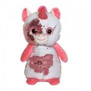 Детска плюшена играчка - Еднорог с пайети, 14см., 391089