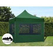 3x3m összecsukható pavilon ablakos Alutec Zöld (Economy Alutec)
