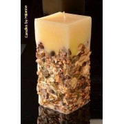 Designkaarsen com Herfst kaars, super XXXL, H: 26 cm rechthoek - kaarsen