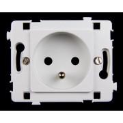 HBF zásuvka 2P+Z bílá CLARYS (230018)