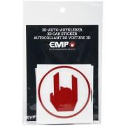 EMP 3er Set Aufkleber-schwarz rot weiß Onesize Unisex