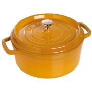 Staub Rund Gryta 24 cm 3,8 liter Mustard