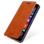Capa com Cobertura Mofi Rui Series para Microsoft Lumia 640 XL, Lumia 640 XL Dual SIM - Castanho