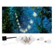 Lunartec Guirlande lumineuse solaire à LED design ampoule classique - 8,5 m