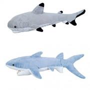"ADVENTURE PLANET - Set of 2 Plush SHARKS - 13"" BLACK TIP Shark & 14"" MAKO Shark - Stuffed Animal - O"