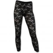 pantalon pour femmes (caleçons longs) SPIRAL - Gothic Elegance - Noire - P001G453